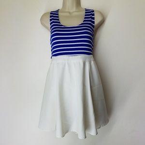 Double Zero Blue & White Dress